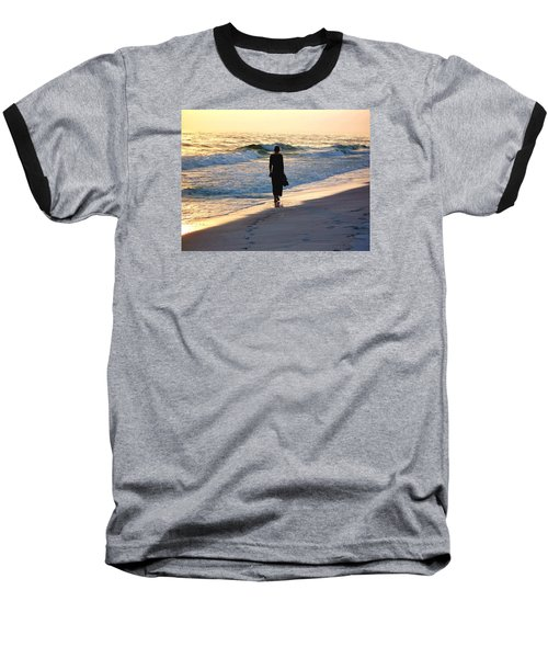 Alone At The Edge Baseball T-Shirt