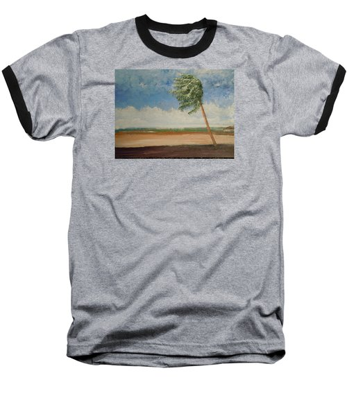 Baseball T-Shirt featuring the painting Alone In Paradise  by Dan Whittemore