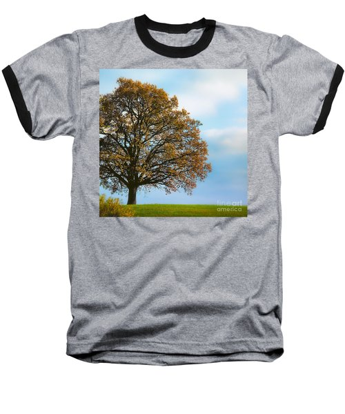 Alone On The Hill Baseball T-Shirt