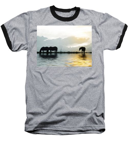 Alone Baseball T-Shirt by Susan Kinney