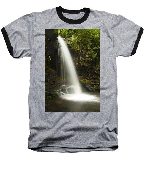Alongside Grotto Falls Baseball T-Shirt