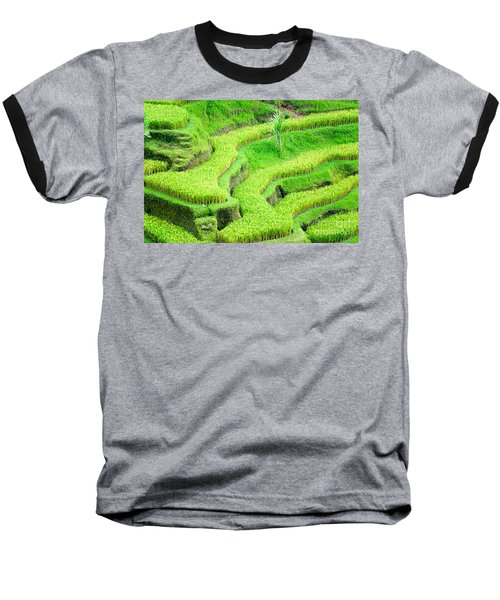 Baseball T-Shirt featuring the photograph Amazing Rice Terrace Field by Luciano Mortula