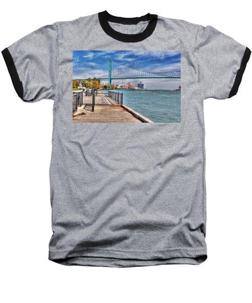 Ambassador Bridge Detroit Mi Baseball T-Shirt by Nicholas  Grunas