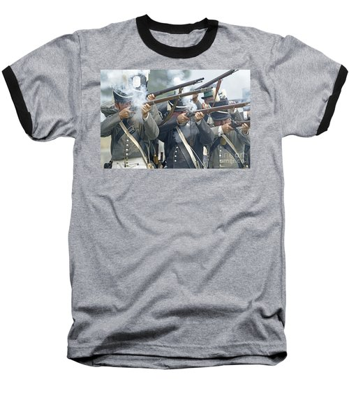 American Infantry Firing Baseball T-Shirt by JT Lewis