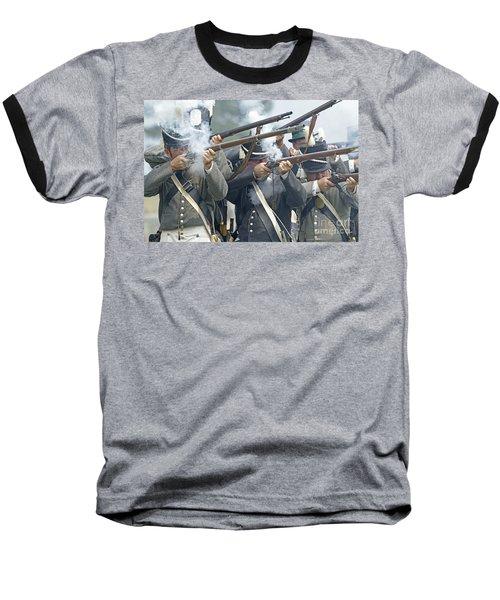 American Infantry Firing Baseball T-Shirt