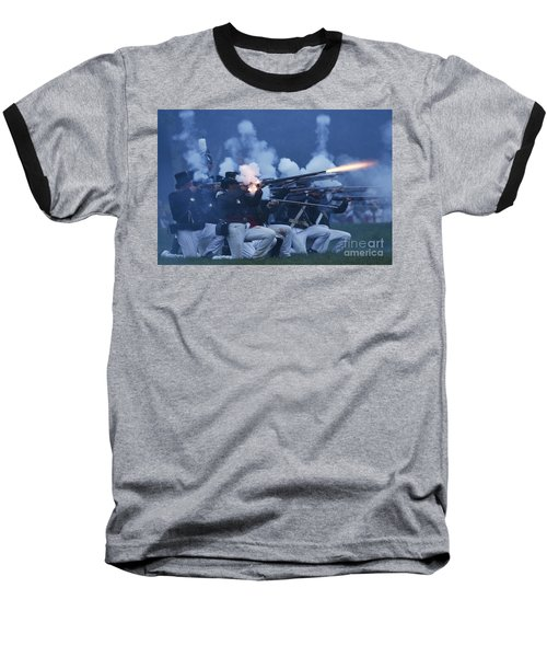 American Night Battle Baseball T-Shirt by JT Lewis