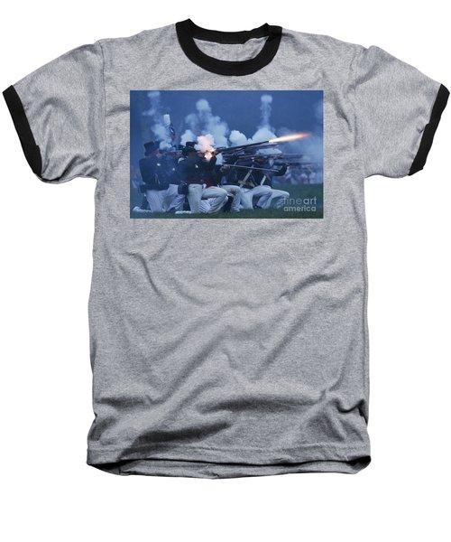 American Night Battle Baseball T-Shirt