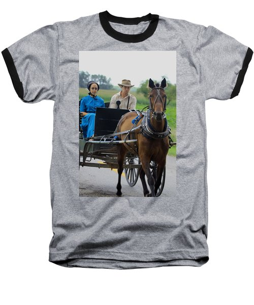 Amish Buggy Ride Baseball T-Shirt