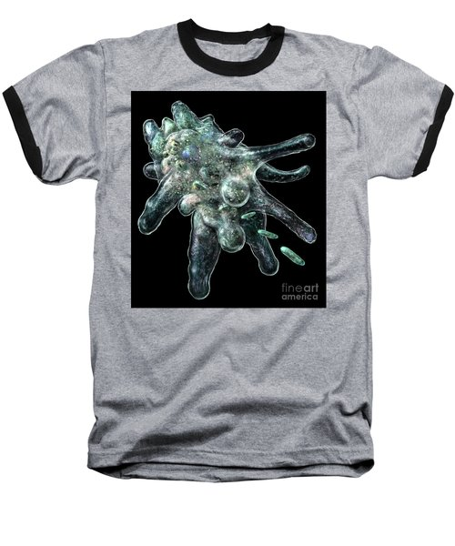 Baseball T-Shirt featuring the digital art Amoeba Black by Russell Kightley