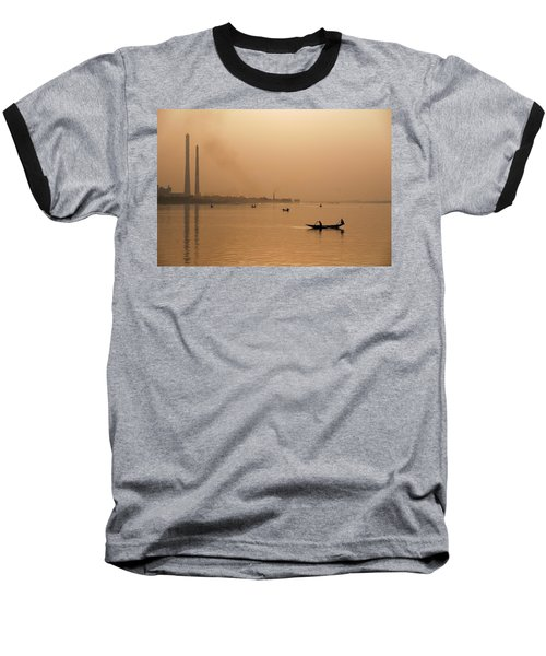 An Industrial Sunset Baseball T-Shirt