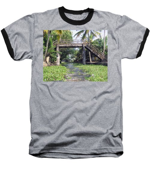 An Old Stone Bridge Over A Canal In Alleppey Baseball T-Shirt