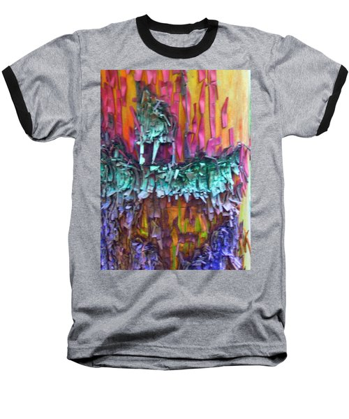 Baseball T-Shirt featuring the digital art Ancient Footsteps by Richard Laeton