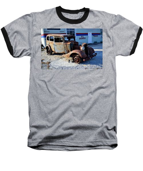 Baseball T-Shirt featuring the photograph ...and Rotate The Tires by Larry Bishop