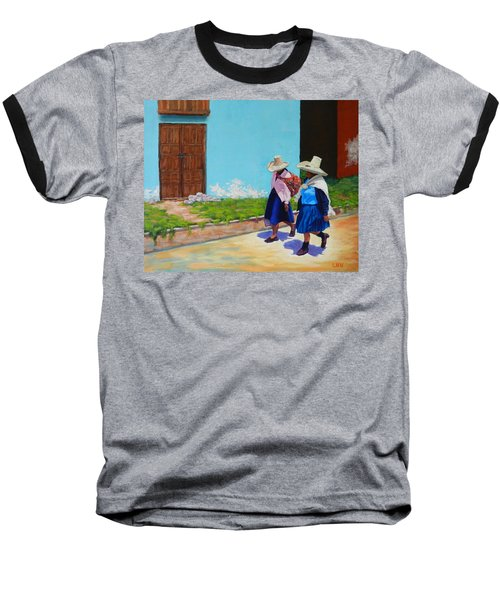 Andean Ladies, Peru Impression Baseball T-Shirt