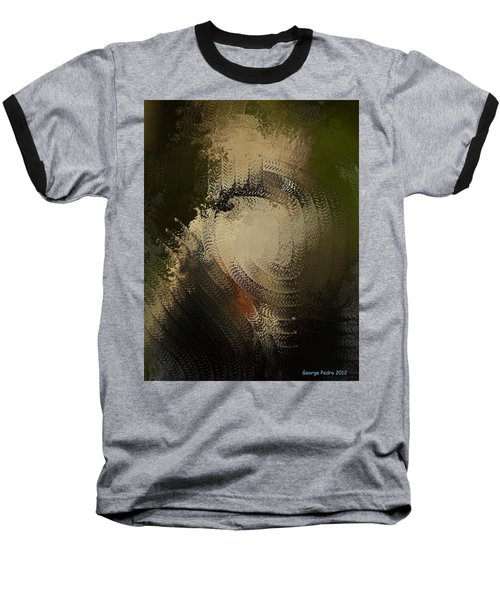 Baseball T-Shirt featuring the painting Angry Monkey by George Pedro