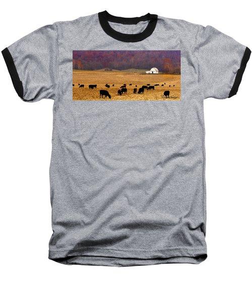 Baseball T-Shirt featuring the photograph Angus And Oaks  Farm by Randall Branham