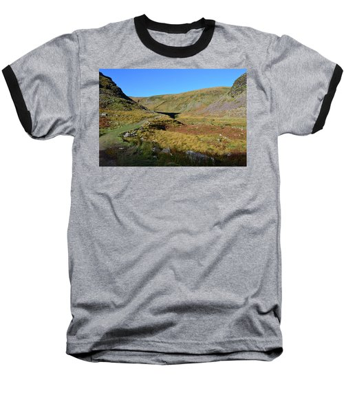Baseball T-Shirt featuring the photograph Annascaul Lake And Mountains by Barbara Walsh