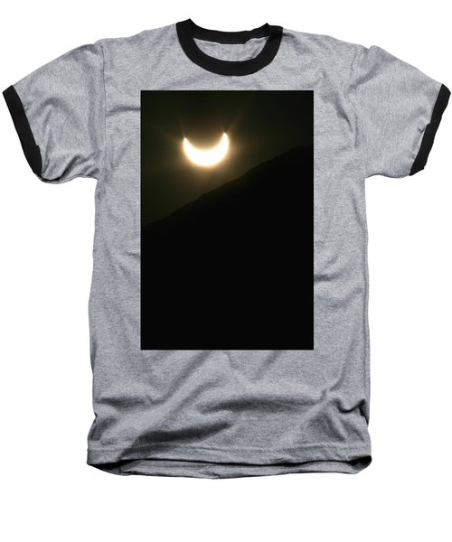 Baseball T-Shirt featuring the photograph Annular Solar Eclipse At Sunset Number 1 by Lon Casler Bixby