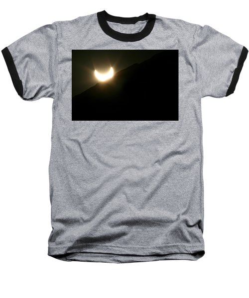 Baseball T-Shirt featuring the photograph Annular Solar Eclipse At Sunset Number 2 by Lon Casler Bixby
