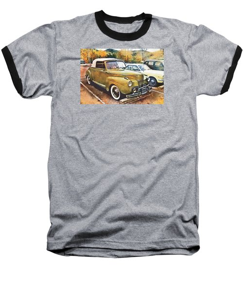 Baseball T-Shirt featuring the digital art Antique Car  by Mary Almond