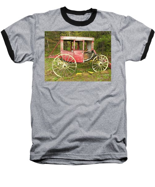 Baseball T-Shirt featuring the photograph Old Horse Drawn Carriage by Sherman Perry