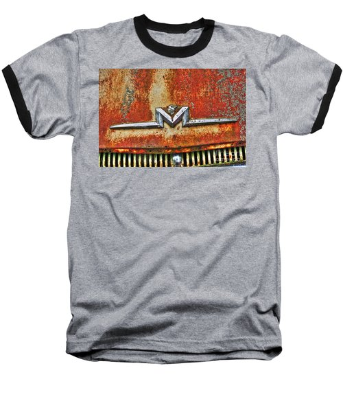 Antique Mercury Auto Logo Baseball T-Shirt by Dan Stone