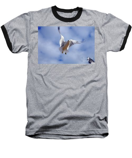 Baseball T-Shirt featuring the photograph Applying Brakes In Flight by Clayton Bruster
