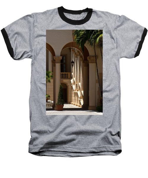 Baseball T-Shirt featuring the photograph Arches And Columns At The Biltmore Hotel by Ed Gleichman