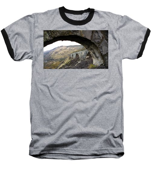 Baseball T-Shirt featuring the photograph Arches And Mountains by Steve McKinzie