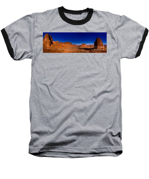 Arches National Park Baseball T-Shirt by Larry Carr