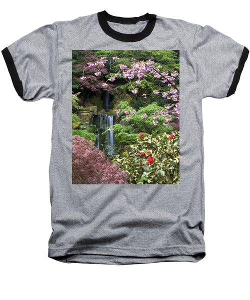 Arching Cherry Blossoms Baseball T-Shirt