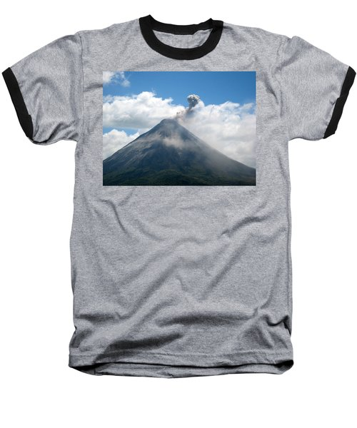 Baseball T-Shirt featuring the photograph Arenal Eruption by Eric Tressler