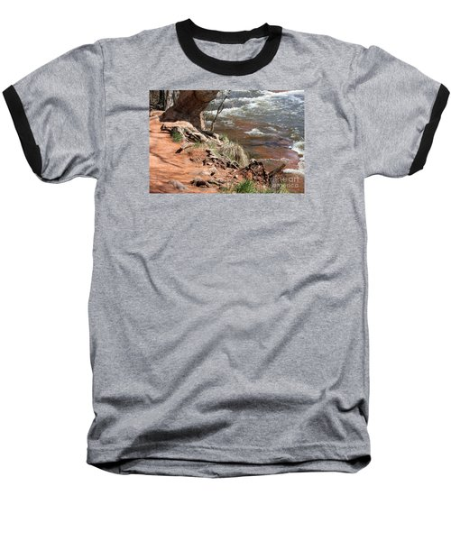Baseball T-Shirt featuring the photograph Arizona Red Water by Debbie Hart