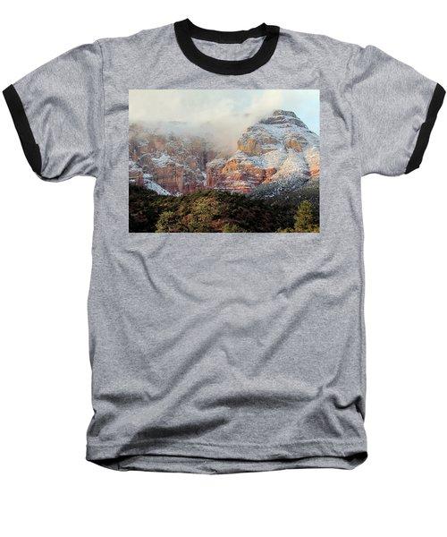 Arizona Snowstorm Baseball T-Shirt by Judy Wanamaker