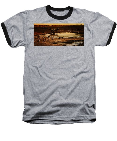 Baseball T-Shirt featuring the photograph Around The Pond by Lydia Holly