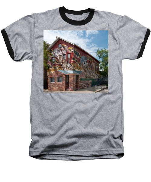 Art House South Chicago Mural Baseball T-Shirt