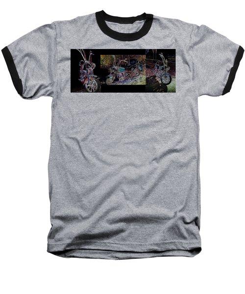 Artistic Harley Montage Baseball T-Shirt