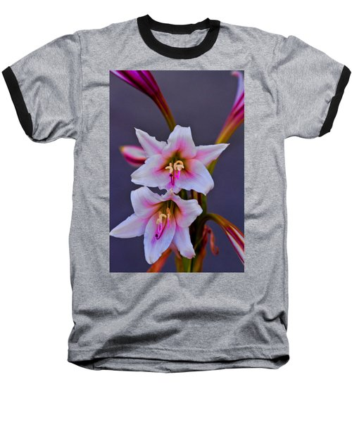 Asiatic Lily Baseball T-Shirt by Bill Barber
