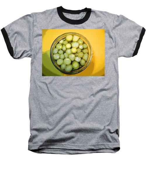 Baseball T-Shirt featuring the photograph Asparagus In A Jar by Kym Backland