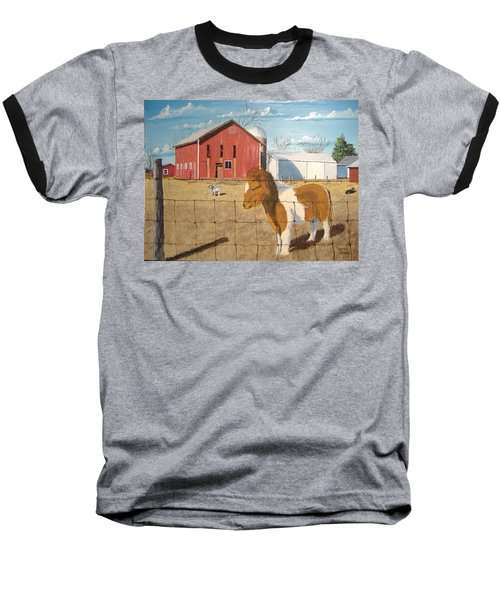 Baseball T-Shirt featuring the painting At Home by Norm Starks
