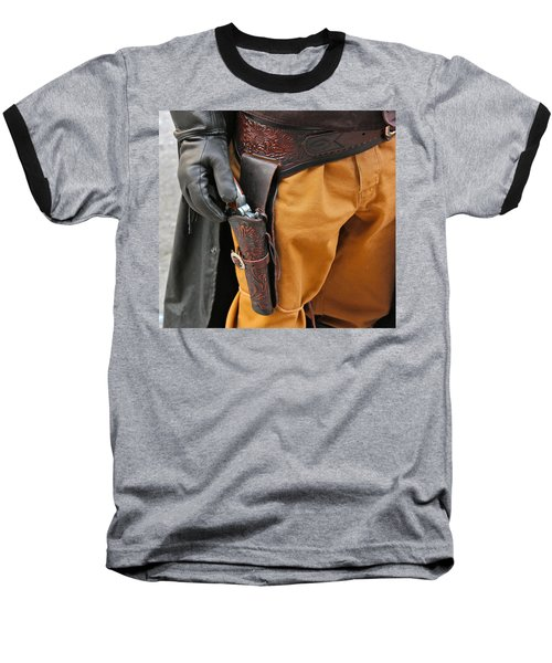 Baseball T-Shirt featuring the photograph At The Ready by Bill Owen