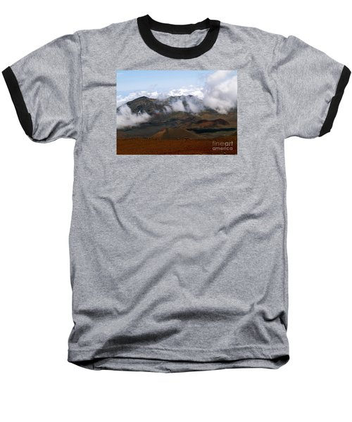 At The Rim Of The Crater Baseball T-Shirt by Patricia Griffin Brett