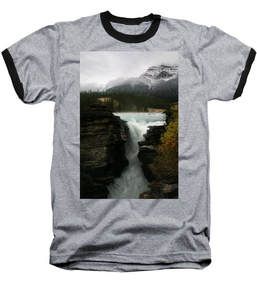 Athabasca Falls Jasper National Park Baseball T-Shirt