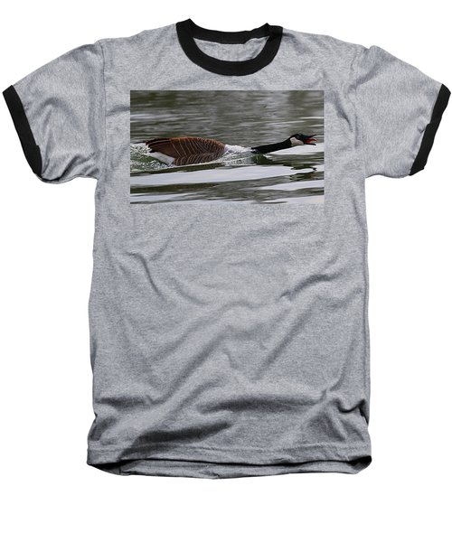 Baseball T-Shirt featuring the photograph Attack Of The Canadian Geese by Elizabeth Winter