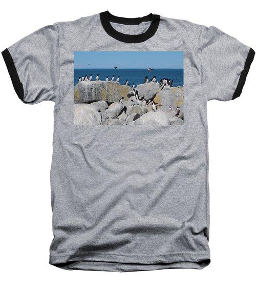 Auk Island Baseball T-Shirt by Bruce J Robinson