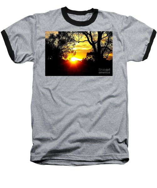 Baseball T-Shirt featuring the photograph Aussie Sunset by Blair Stuart