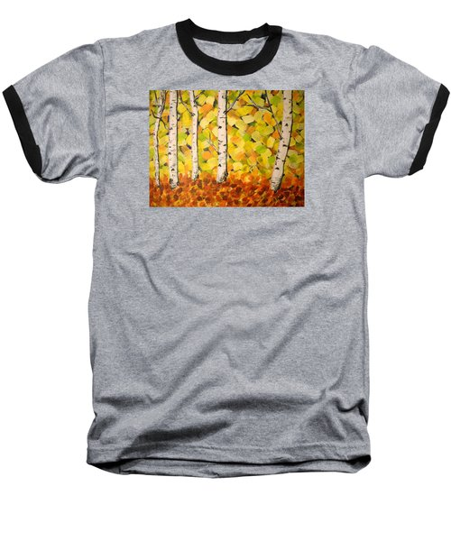 Autumn Aspens Baseball T-Shirt