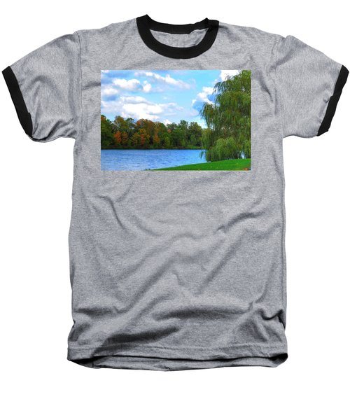 Baseball T-Shirt featuring the photograph Autumn At Hoyt Lake by Michael Frank Jr