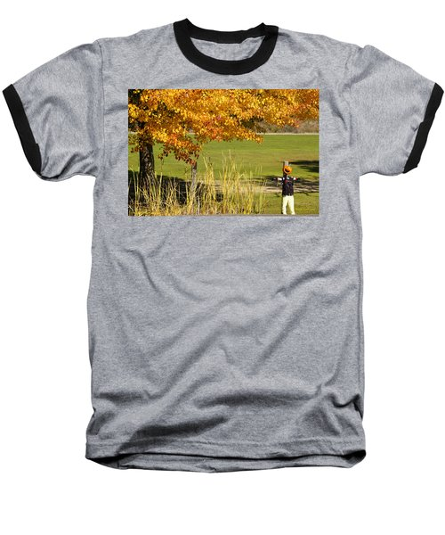 Autumn At The Schoolground Baseball T-Shirt by Mick Anderson