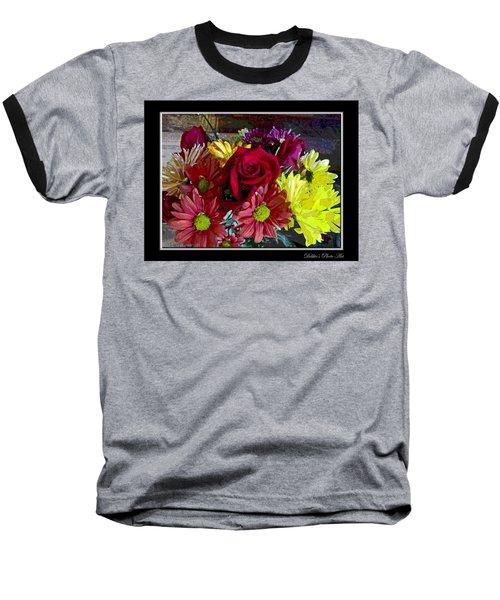 Baseball T-Shirt featuring the digital art Autumn Boquet by Debbie Portwood